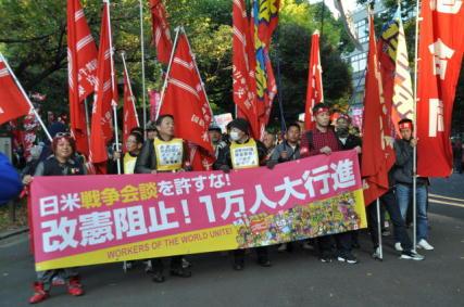 11月労働者集会報告④ 改憲阻止1万人大行進